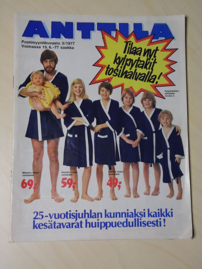 ANTTILA POSTIMYYNTIKUVASTO 3/1977