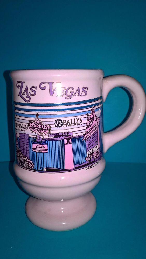 Las Vegas Mug Vintage Casino Flamingo Golden Nugget Pink 1986 Vegas Strip Cup