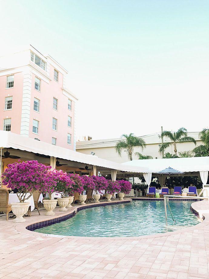 Outdoor pool at resort in California