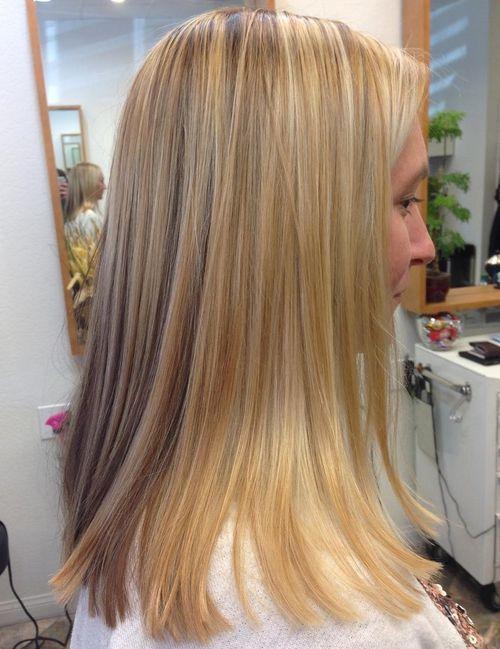 medium blunt blonde haircut