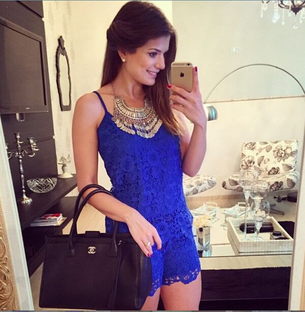 2014 Summer Women Jumpsuit Sexy Fashion Shorts Jumpsuit Dark Blue Two Pieces Bodycon Jumpsuit Sexy Bandage Lace Bodysuit Macacao - http://www.freshinstyle.com/products/2014-summer-women-jumpsuit-sexy-fashion-shorts-jumpsuit-dark-blue-two-pieces-bodycon-jumpsuit-sexy-bandage-lace-bodysuit-macacao/