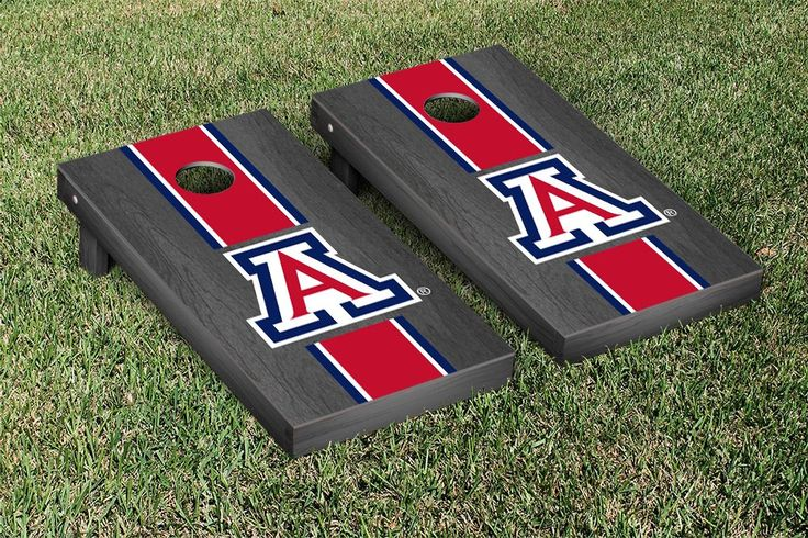 Gray Onyx Arizona Wildcats Varsity Stripe Cornhole Game