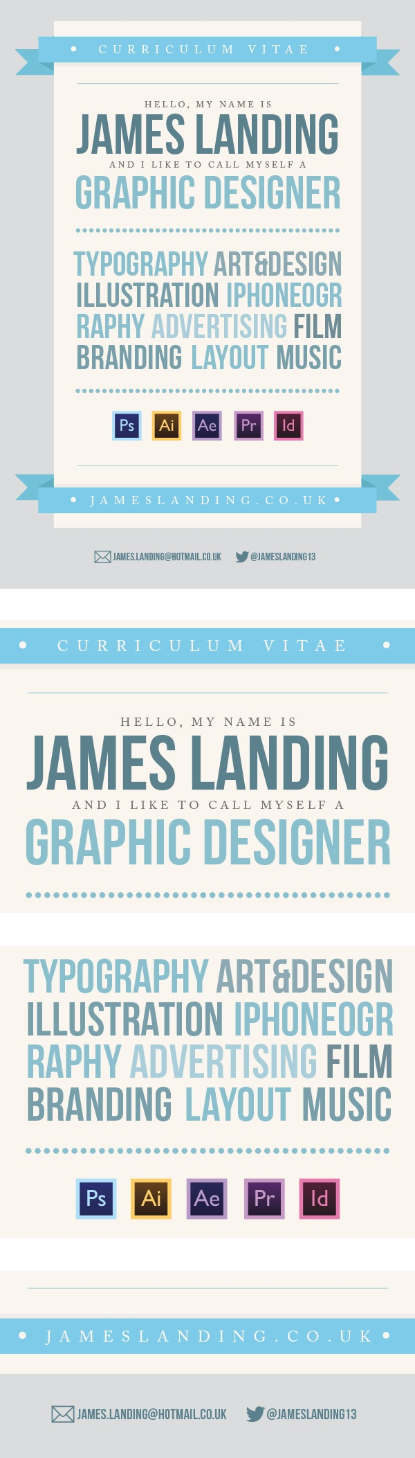 Designer CV on Behance