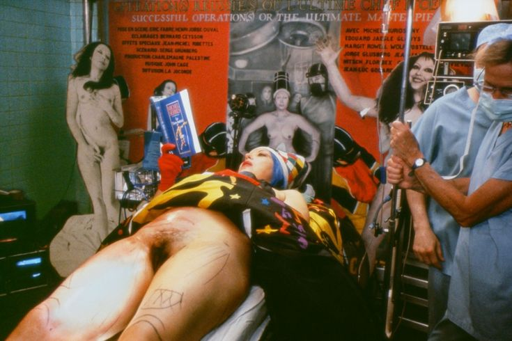 ORLAN, Fifth Surgery - Performance called Operation - Opera, 1991. Photograph, C-print on aluminium, 110 x 165 cm. Courtesy prometeogallery di Ida Pisani, Milan/Lucca