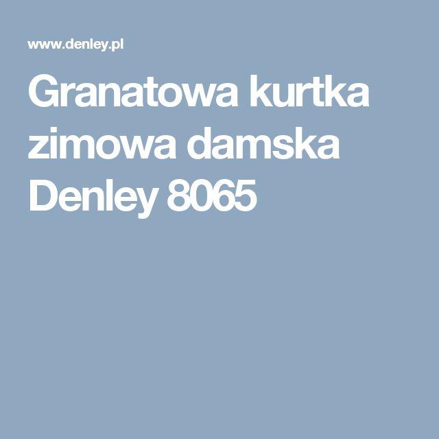 Granatowa kurtka zimowa damska Denley 8065