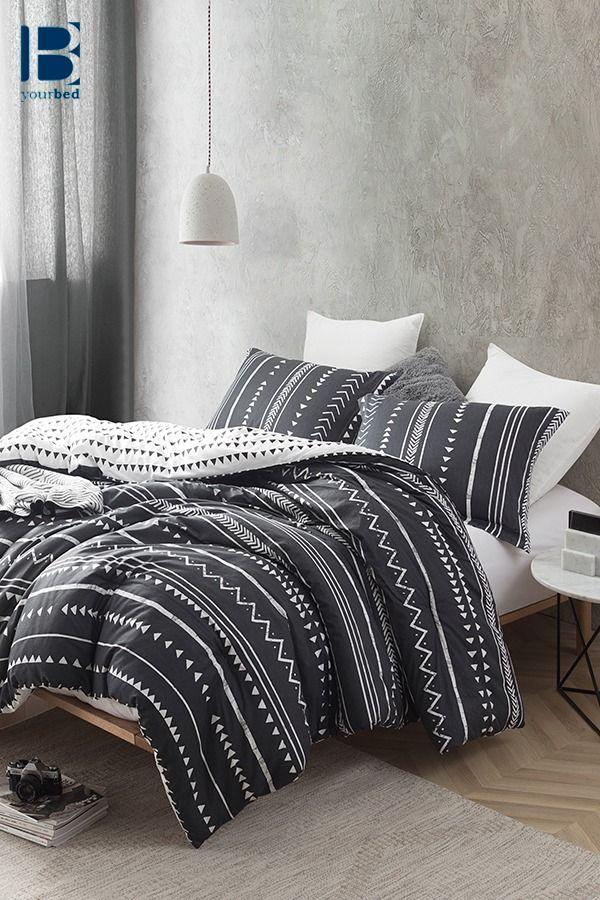 Faded Black And White Extra Large King Comforter Set Stylish Trinity Unique King Xl Bedding Decor King Comforter Sets Black Comforter Comforter Sets