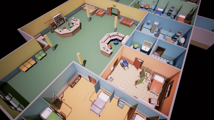 Image result for low poly style building interior