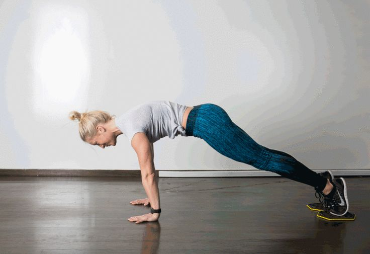 7. Slider Knee Tuck #abs #bodyweight #workout http://greatist.com/move/best-exercises-lower-abs
