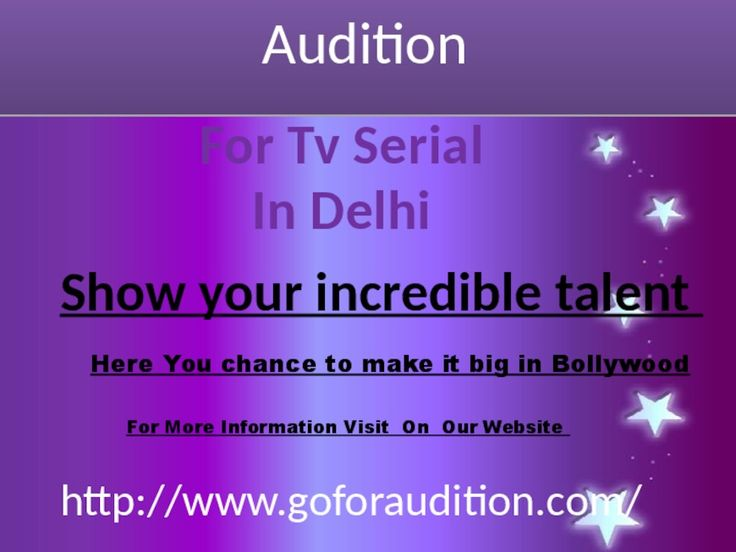 """It's time to tight your belt to witness India's biggest TV channel in Audition For TV serial In Delhi. Goforaudition gives chances to hundreds of people residing in Delhi and want Bollywood Movie Auditions. So those who are labeled as """"Strugglers"""" in Bollywood parlance can become the next TV serial stars. A good actor always finds work for himself by giving various auditions. Do not believe totally that meeting people at filmy parties and going to gym to smarten your appearances is all that…"""