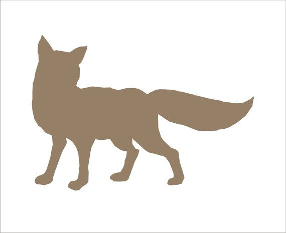 template of a fox - woodland signs stencil fox woodland sign stencil