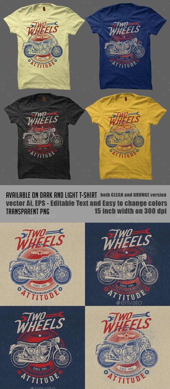 T-shirt design kit - complete package - Vintage Motorbike T Shirt Design