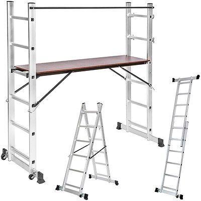 3 Way combination ladder scaffold aluminium multi purpose ladder platform new