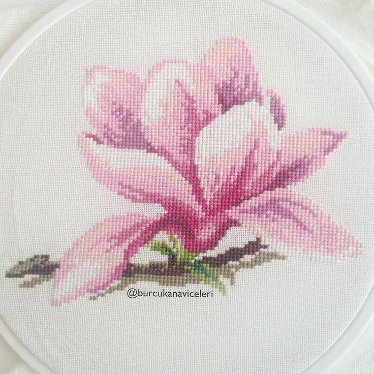 Veronique Enginger Cross Stitch Magnolia Flower