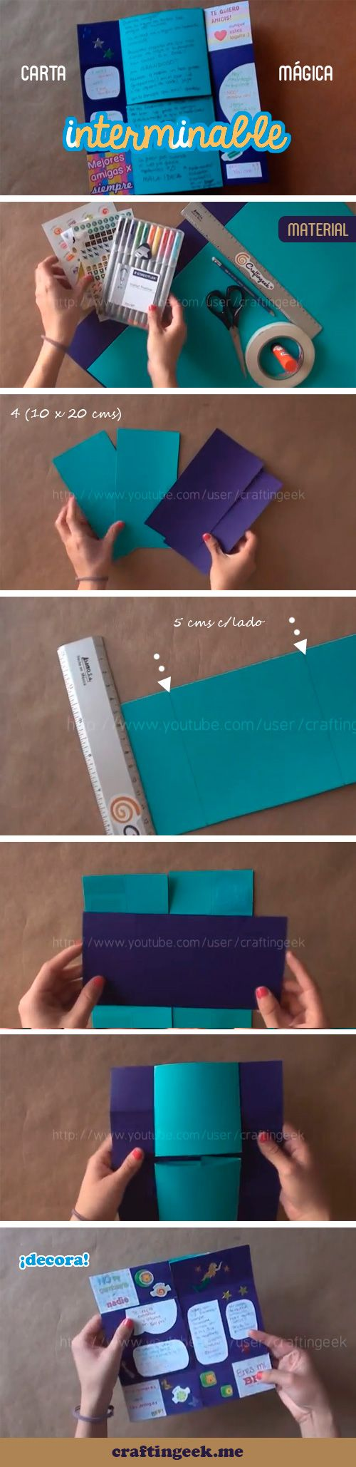 Carta Mágica interminable CG* ♥ Una idea diferente para dar. http://www.youtube.com/watch?v=XM3x8CGCuCE