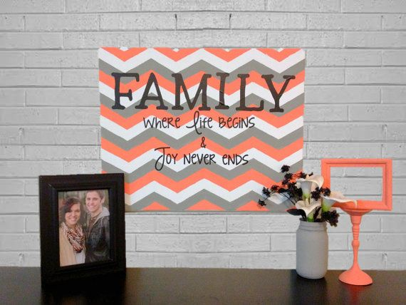 Chevron Family Canvas. I think I could work on my Chevron and Paint This!
