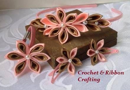 biżuteria dla dzieci w zestawie w Crochet & Ribbon Crafting na DaWanda.com