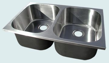 Custom Stainless Steel Kitchen Sinks # 5257