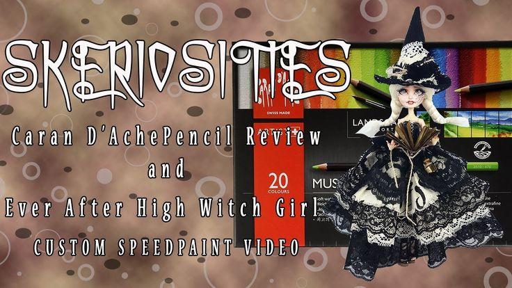 Caran D'Ache Pencil Review & EAH Witch Girl Speedpaint