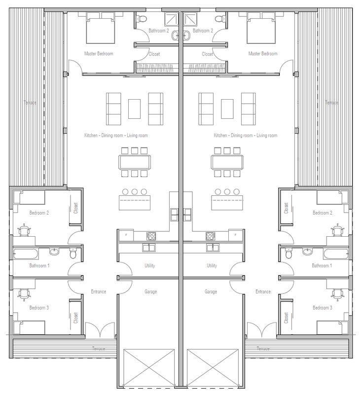 30 best duplex images on pinterest apartment plans for Duplex apartment plans