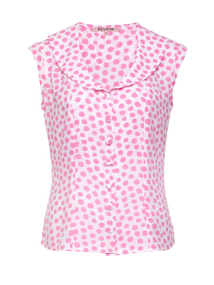 Pink Spritzer Top   Pink And White   Top