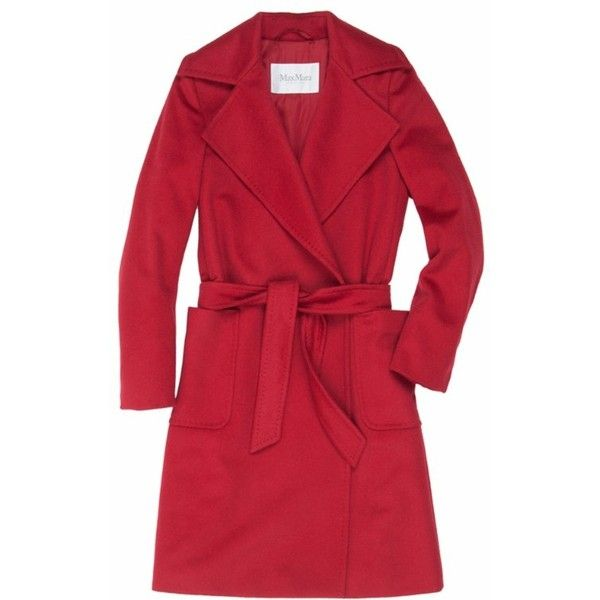 MaxMara Alpaca Coat (12.555 CZK) found on Polyvore featuring outerwear, coats, maxmara, alpaca wool coat, red coat, alpaca coat and maxmara coat