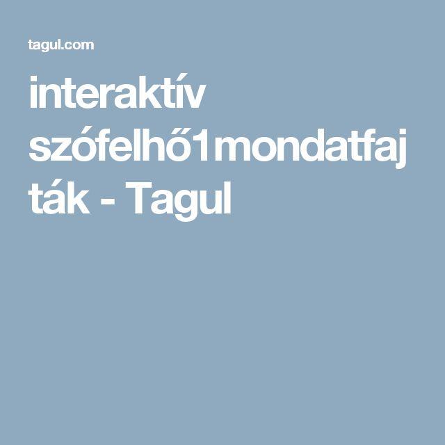 interaktív szófelhő1mondatfajták - Tagul