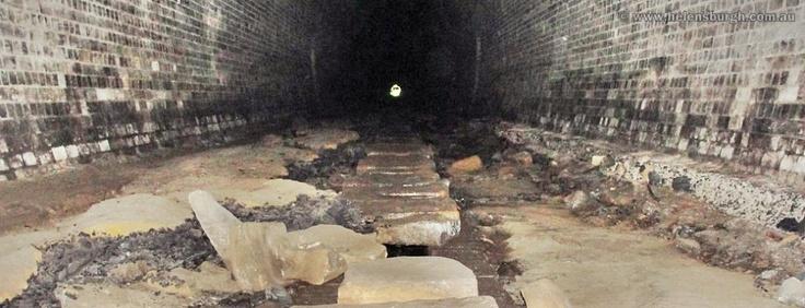 Deep inside the Otford Tunnel