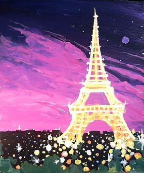 An Evening in Paris | Splash Studio Painting Bar  Milwaukee WI - maybe a painting party......