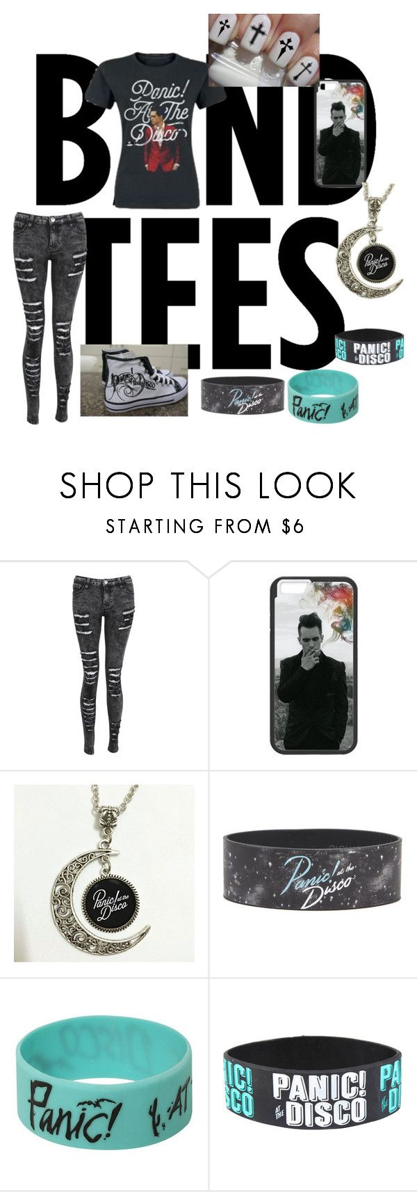 """""""Panic! at the Disco outfit"""" by alibugsimpson ❤ liked on Polyvore featuring Hot Topic"""