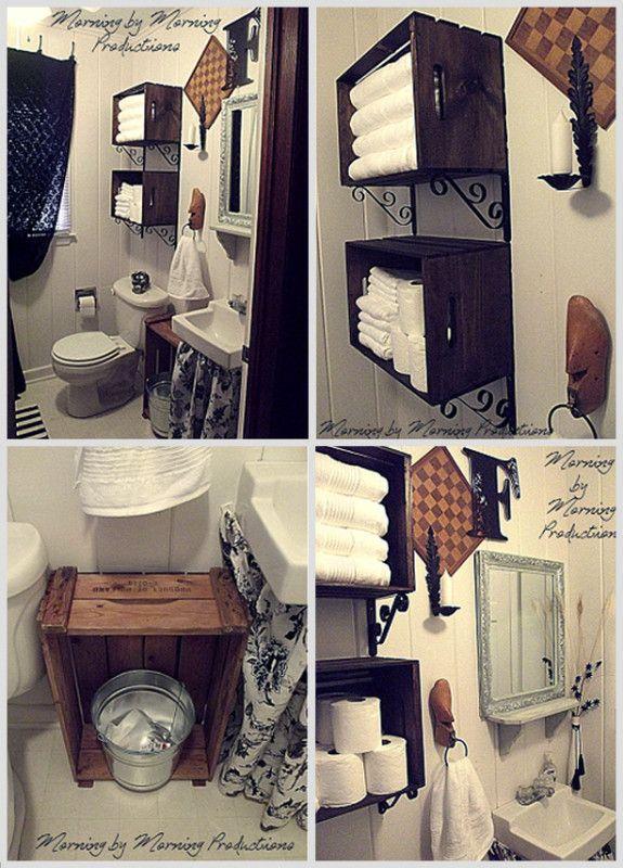 17 melhores Ideias Para Banheiro faça Você Mesmo no Pinterest  D -> Faca Você Mesmo Decoracao De Banheiro