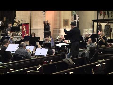 The Hannaford Street Silver Band recording Great North Overture by Kevin Lau, Nov 2, 2012 at the Metropolitan United Church in Toronto. This piece will appear on the new HSSB recording in 2013.