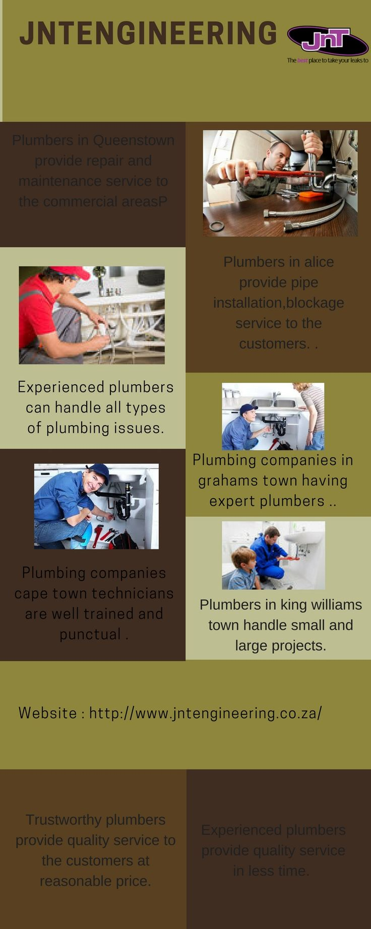 Our expert team is here to assist you with any plumbing issue, from blocked drains and leaky taps to installations. Our Plumbers are well trained and appreciated for their work .  #plumbing services cape town visit us at : http://www.jntengineering.co.za/
