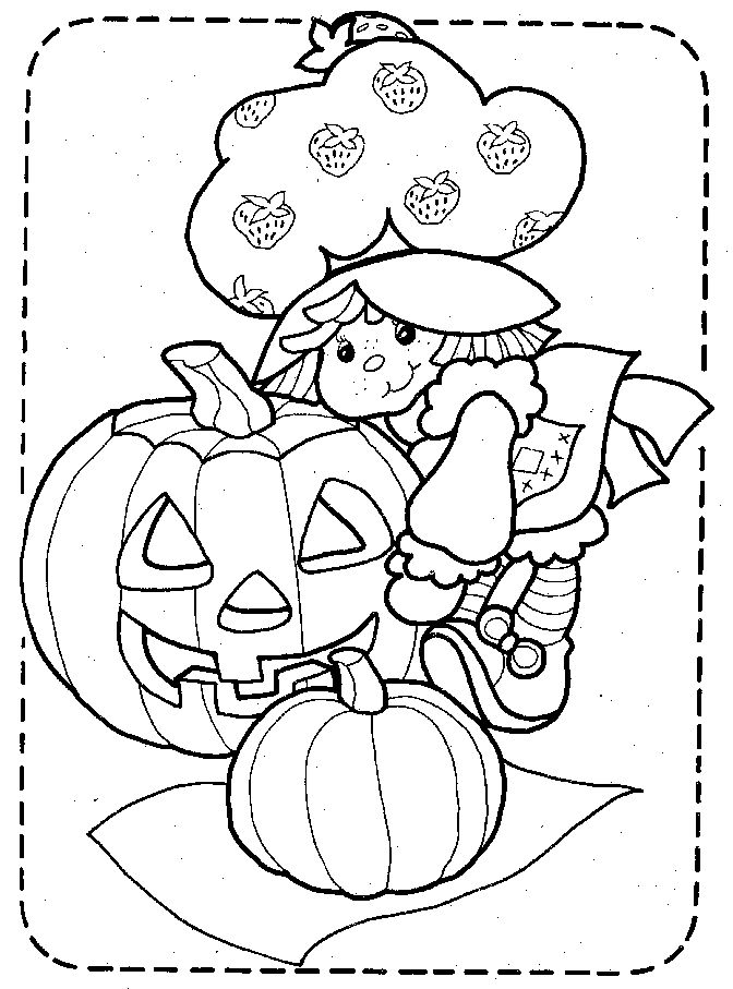Strawberry Shortcake Coloring Pages Halloween