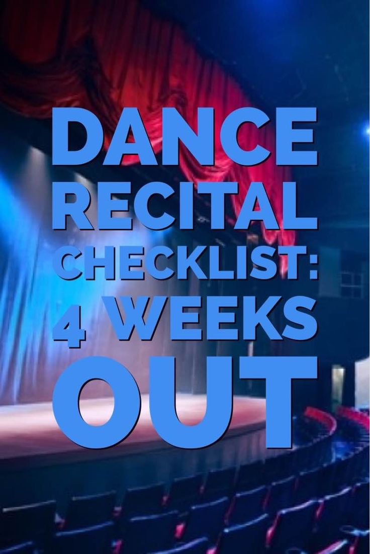 This checklist will help studio owners stay sane with one month left to go until your dance recital.