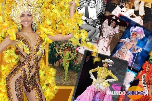 Estos son los trajes típicos usados por nuestras venezolanas en el Miss Universo.