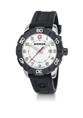 Wenger Black Rubber Watch