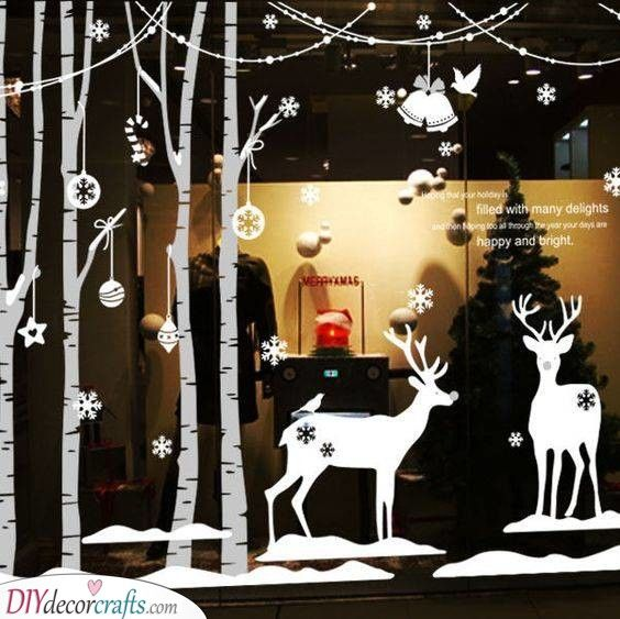 Window Christmas tree sticker Vinyl decals Winter Window decals Christmas tree Decal