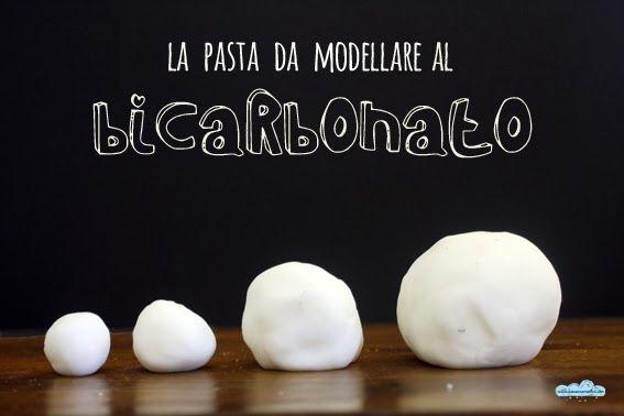 La pasta da modellare al bicarbonato per stimolare la fantasia. Sono 3 ingredienti: bicarbonato, maizena, acqua.