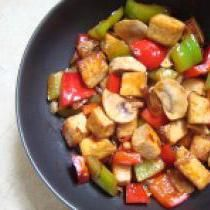 Vegetarian Thai Style Vegetable Stir Fry with Hoisin Sauce - Vegan