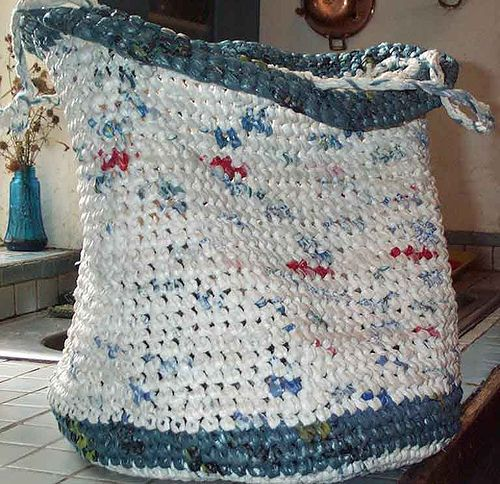 Crocheting Using Plastic Bags : ... Bags, Plastic Bag Knitting, Preparing Plastic, Crochet Ideas To Sell