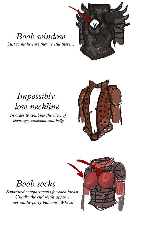 #БиР_одежда<br><br>Типы брони (и не только) на женские прелести)<br><br>Автор: http://yanavaseva.tumblr.com/