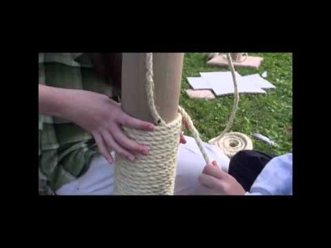 ▶ Scouts Make Cat Scratching Post - YouTube, construction basics to last!