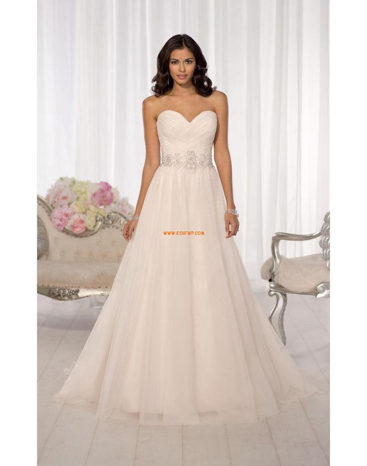 Vår 2014 Glamorös & Dramatisk Ärmlös Bröllopsklänningar 2014