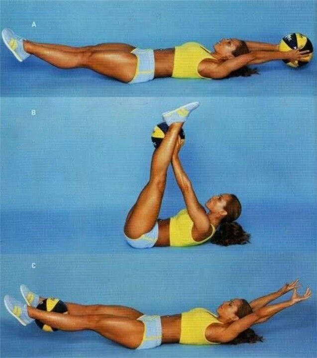 Her ab workout