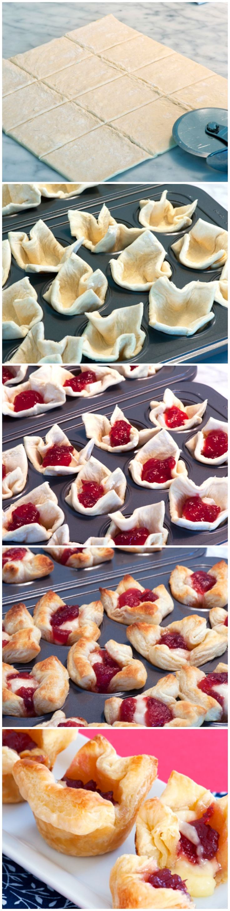 Cranberry Brie Bites #viewingparty