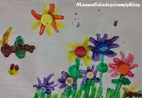 Flores de playmais para el Día de la madre. Molde incluido
