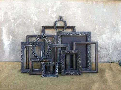 VTG Lot 11 Shabby Picture FRAMES~ French Cottage Picture Frames~Distressed Frame