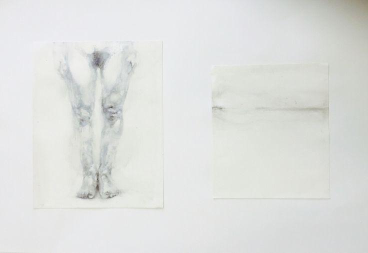 """Horizon""/oil drawing/leg"