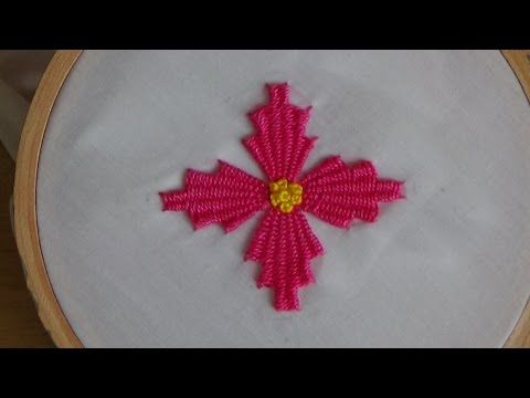 Hand Embroidery: Kadai kamal Stitch (Flowers) - YouTube