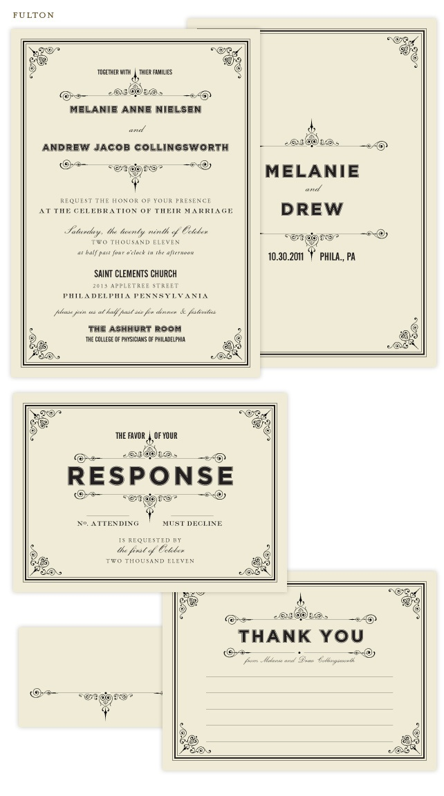 Really like these vintage inspired invitations